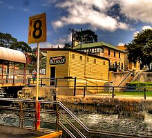 Safe Landing - Balmain Wharf , Sydney Harbour - The HDR Experience by Philip Johnson