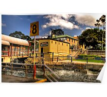 Safe Landing - Balmain Wharf , Sydney Harbour - The HDR Experience Poster