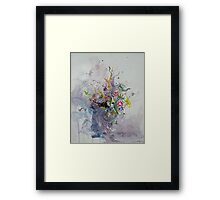 Tranquil faces Framed Print