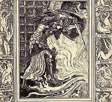 Spenser's Faerie queene A poem in six books with the fragment Mutabilitie Ed by Thomas J Wise, pictured by Walter Crane 1895 V3 291 - Britomart Chaceth Ollyphant by wetdryvac