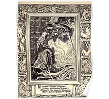Spenser's Faerie queene A poem in six books with the fragment Mutabilitie Ed by Thomas J Wise, pictured by Walter Crane 1895 V3 291 - Britomart Chaceth Ollyphant Poster