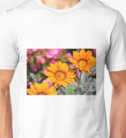 Three Orange Flowers - Budapest Unisex T-Shirt