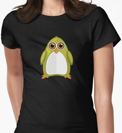 Yellow Green Penguin 2 Womens Fitted T-Shirt