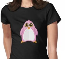 Pink Penguin 2 Womens Fitted T-Shirt