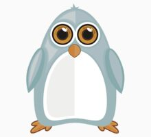 Baby Blue Penguin 2 One Piece - Short Sleeve