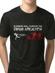 Zombie Runner - Zombie Apocalypse Tri-blend T-Shirt