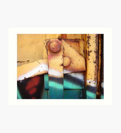 Train Car Abstract 1 Art Print