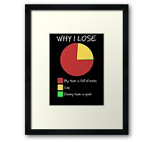 Why I Lose - Gaming Humor T Shirt Framed Print
