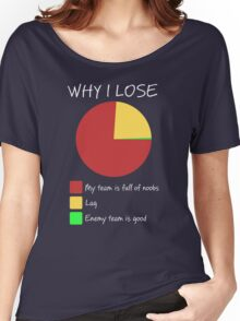 Why I Lose - Gaming Humor T Shirt Women's Relaxed Fit T-Shirt