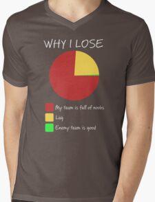 Why I Lose - Gaming Humor T Shirt Mens V-Neck T-Shirt
