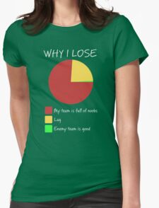 Why I Lose - Gaming Humor T Shirt Womens Fitted T-Shirt