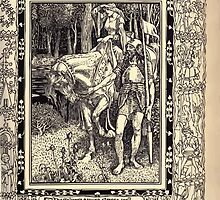 Spenser's Faerie queene A poem in six books with the fragment Mutabilitie Ed by Thomas J Wise, pictured by Walter Crane 1895 V6 109 - The Savage Serves Serena Well by wetdryvac