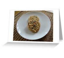 White Chocolate and Blueberry Luxury Cookies Greeting Card