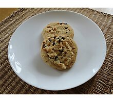 White Chocolate and Blueberry Luxury Cookies Photographic Print