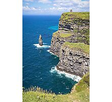 Cliffs of Moher at O'Brien's Tower Photographic Print