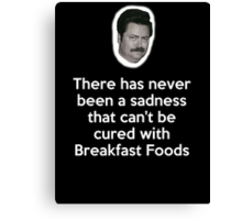 Sadness Cured with Breakfast Food Canvas Print