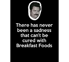 Sadness Cured with Breakfast Food Photographic Print