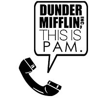 Dunder Mifflin, This Is Pam. Photographic Print