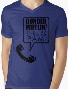 Dunder Mifflin, This Is Pam. Mens V-Neck T-Shirt