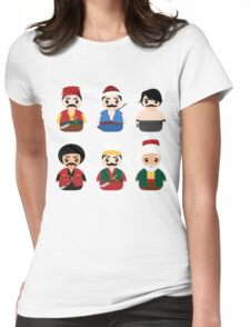 Ottoman Characters Womens Fitted T-Shirt