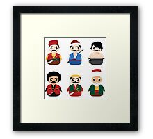 Ottoman Characters Framed Print