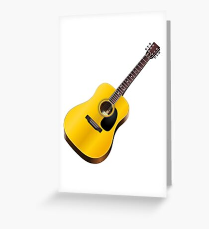 Play Classic Guitar Illustration Greeting Card