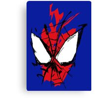 Spiderman Splatter Canvas Print