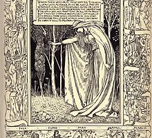 Spenser's Faerie queene A poem in six books with the fragment Mutabilitie Ed by Thomas J Wise, pictured by Walter Crane 1895 V6 317 - When These Were Past by wetdryvac
