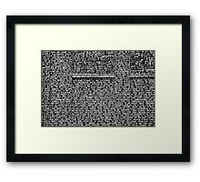 Random thoughts? Framed Print