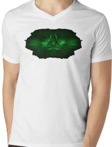 Kryptonite Green Triquetra Type B Mens V-Neck T-Shirt