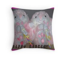 """'MAY YOU ALL HAVE A HAPPY EASTER"""" Throw Pillow"""