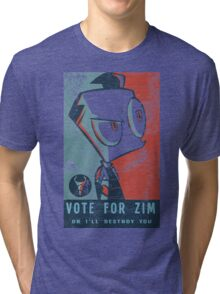 Vote For Zim Tri-blend T-Shirt