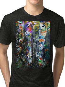 Whirling Petals in a Dark Forest Tri-blend T-Shirt