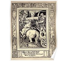 Spenser's Faerie queene A poem in six books with the fragment Mutabilitie Ed by Thomas J Wise, pictured by Walter Crane 1895 V5 167 - Orubce Arthure and Sir Artegall Poster