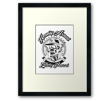 Heavily Armed Easily Pissed - Black on any color Framed Print