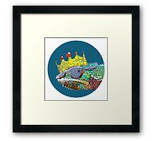 King Chameleon Framed Print