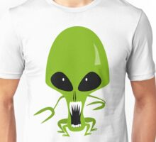 Green Angry Alien, Space Enemy Unisex T-Shirt