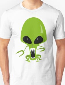 Green Angry Alien, Space Enemy T-Shirt