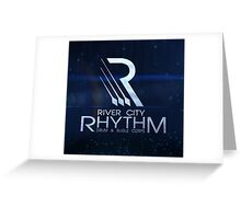 River City Rhythm Products - Blue Drum Corps logo Greeting Card
