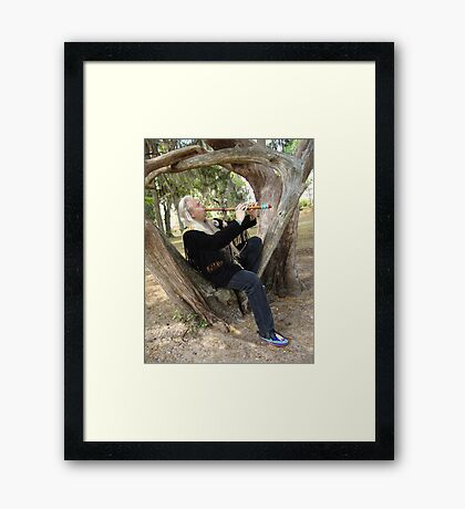 Billy White Fox Framed Print