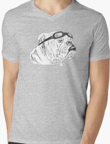Biker Bull Mens V-Neck T-Shirt