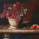 Still Life With Shamrock and Oranges by Ian Malcolm