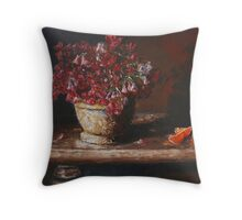 Still Life With Shamrock and Oranges Throw Pillow