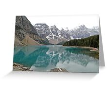 Lake Moraine - Banff National Park - Alberta - Canada  Greeting Card