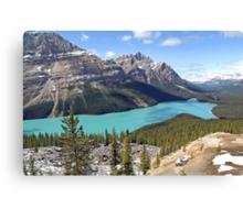 Peyto Lake - Banff National Park - Alberta - Canada Canvas Print