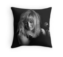 Letting the note linger Throw Pillow