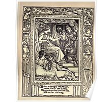 Spenser's Faerie queene A poem in six books with the fragment Mutabilitie Ed by Thomas J Wise, pictured by Walter Crane 1895 V5 191 - Arthur and Artegall Catch Guyle Poster