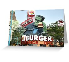 Buger Monster Greeting Card
