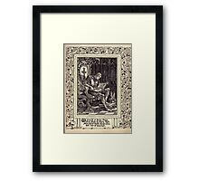 Spenser's Faerie queene A poem in six books with the fragment Mutabilitie Ed by Thomas J Wise, pictured by Walter Crane 1895 V2 237 - A Chronicle of Briton Kings Framed Print