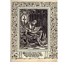 Spenser's Faerie queene A poem in six books with the fragment Mutabilitie Ed by Thomas J Wise, pictured by Walter Crane 1895 V2 237 - A Chronicle of Briton Kings Photographic Print